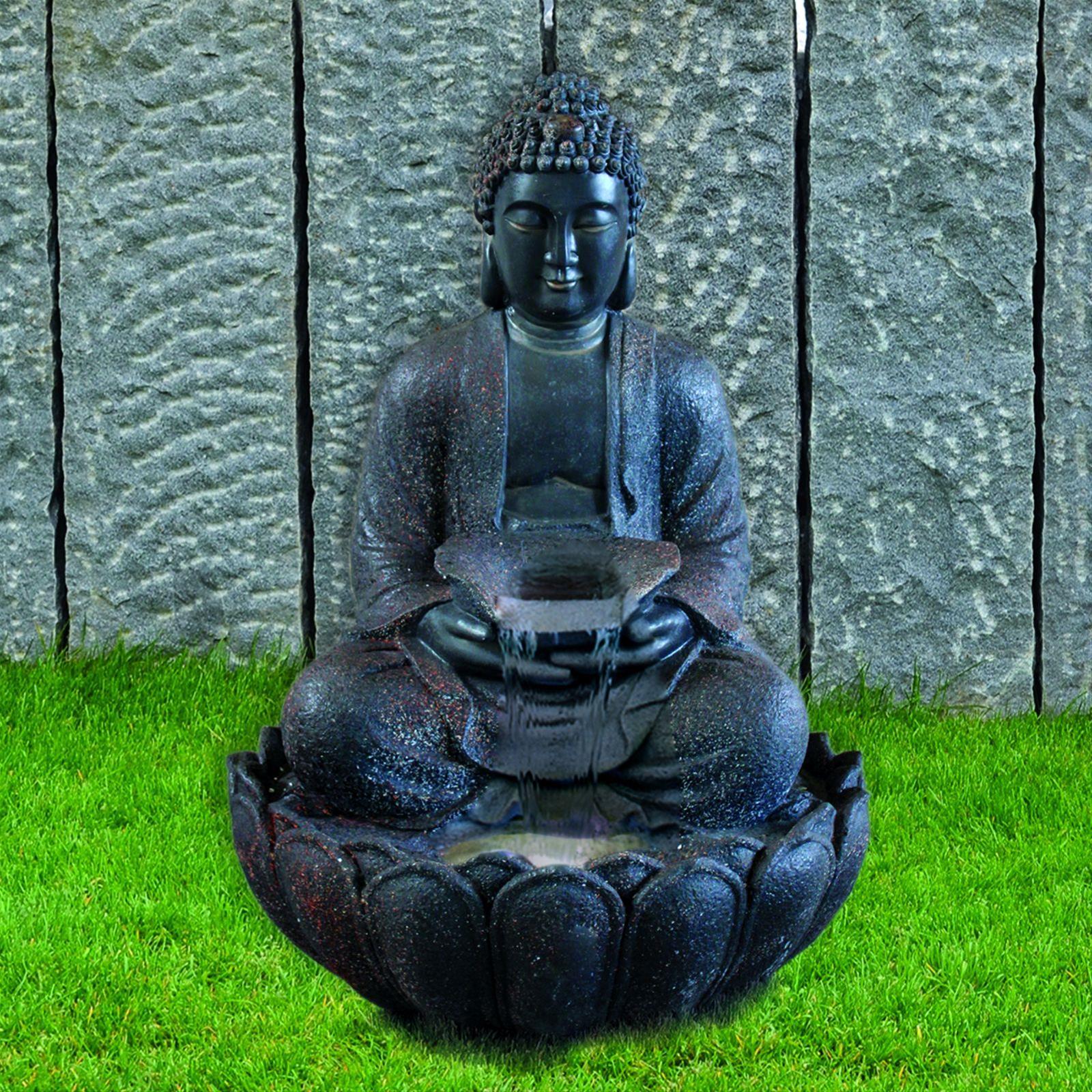 Gartenbrunnen / Wasserspiel / Zimmerbrunnen GardenForma Buddha Silence Bild 2
