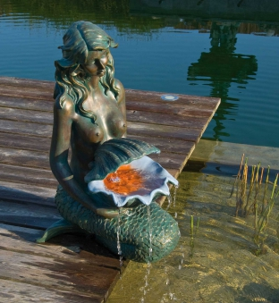 Gartenbrunnen / Wasserspiel ubbink AcquaArte Oslo Bronzeoptik Bild 1