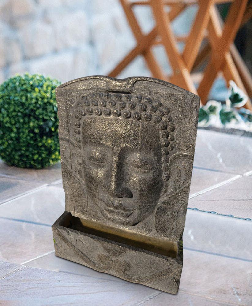 heissner gartenbrunnen springbrunnen buddha 49x19x78cm. Black Bedroom Furniture Sets. Home Design Ideas