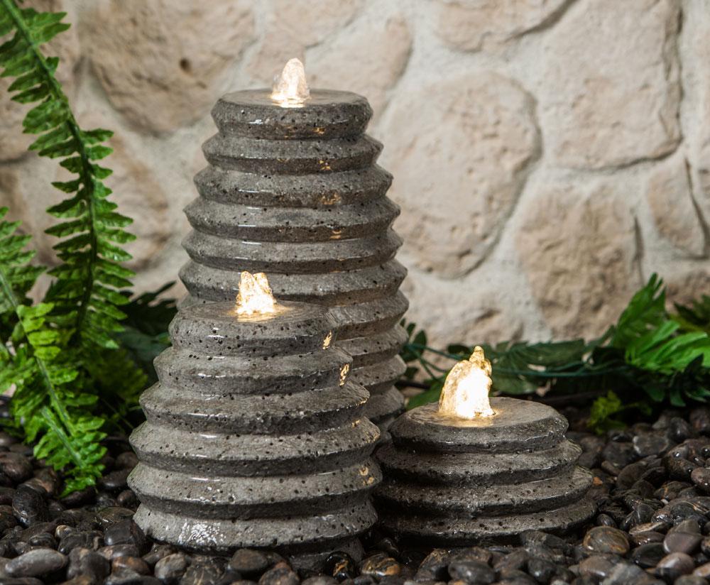 heissner gartenbrunnen springbrunnen honey led bei. Black Bedroom Furniture Sets. Home Design Ideas