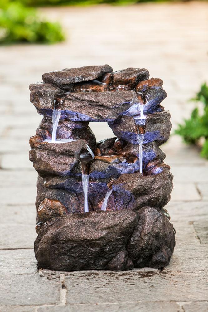 heissner gartenbrunnen springbrunnen poly rock fountain. Black Bedroom Furniture Sets. Home Design Ideas