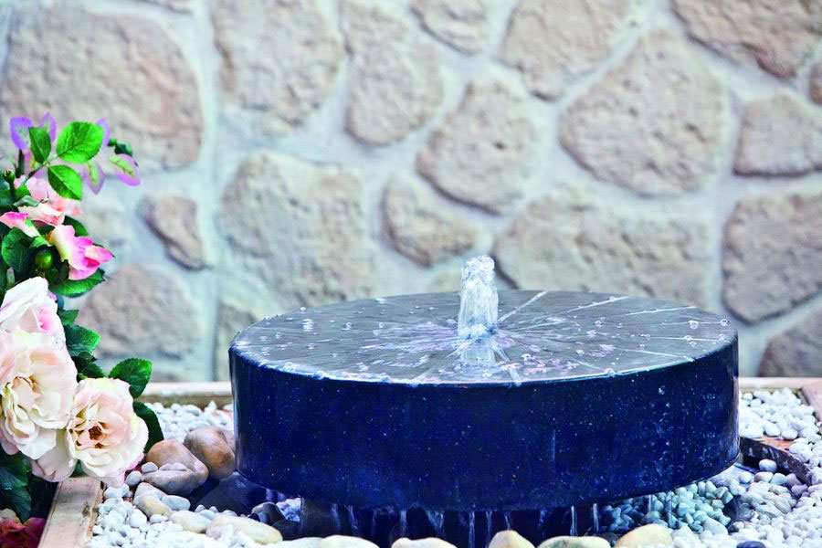heissner gartenbrunnen terrassenbrunnen set millstone. Black Bedroom Furniture Sets. Home Design Ideas