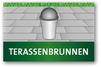 Heissner Rattan Terrassenbrunnen / Springbrunnen Polyrattan LED Bild 2
