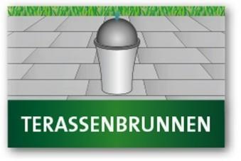 Heissner Terrassenbrunnen / Gartenbrunnen Buddha LED grau 49x19x78cm Bild 3