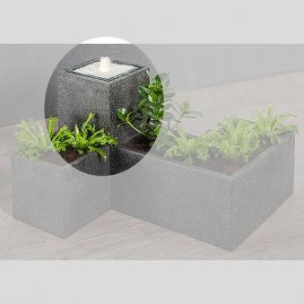 heissner terrassenbrunnen gartenbrunnen plantana led. Black Bedroom Furniture Sets. Home Design Ideas