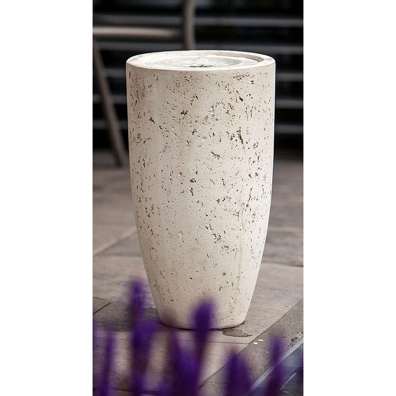 Heissner Terrassenbrunnen / Gartenbrunnen Vase White LED Bild 1