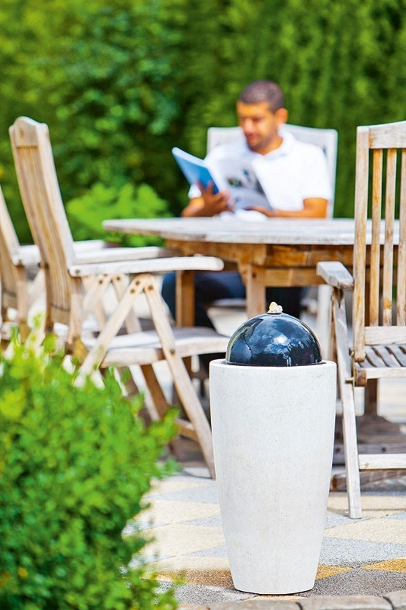 heissner terrassenbrunnen mocca mit led beleuchtung bei. Black Bedroom Furniture Sets. Home Design Ideas