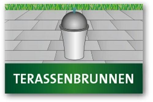 Heissner Terrassenbrunnen Villa Fontania Fountain Zylinder White LED Bild 3