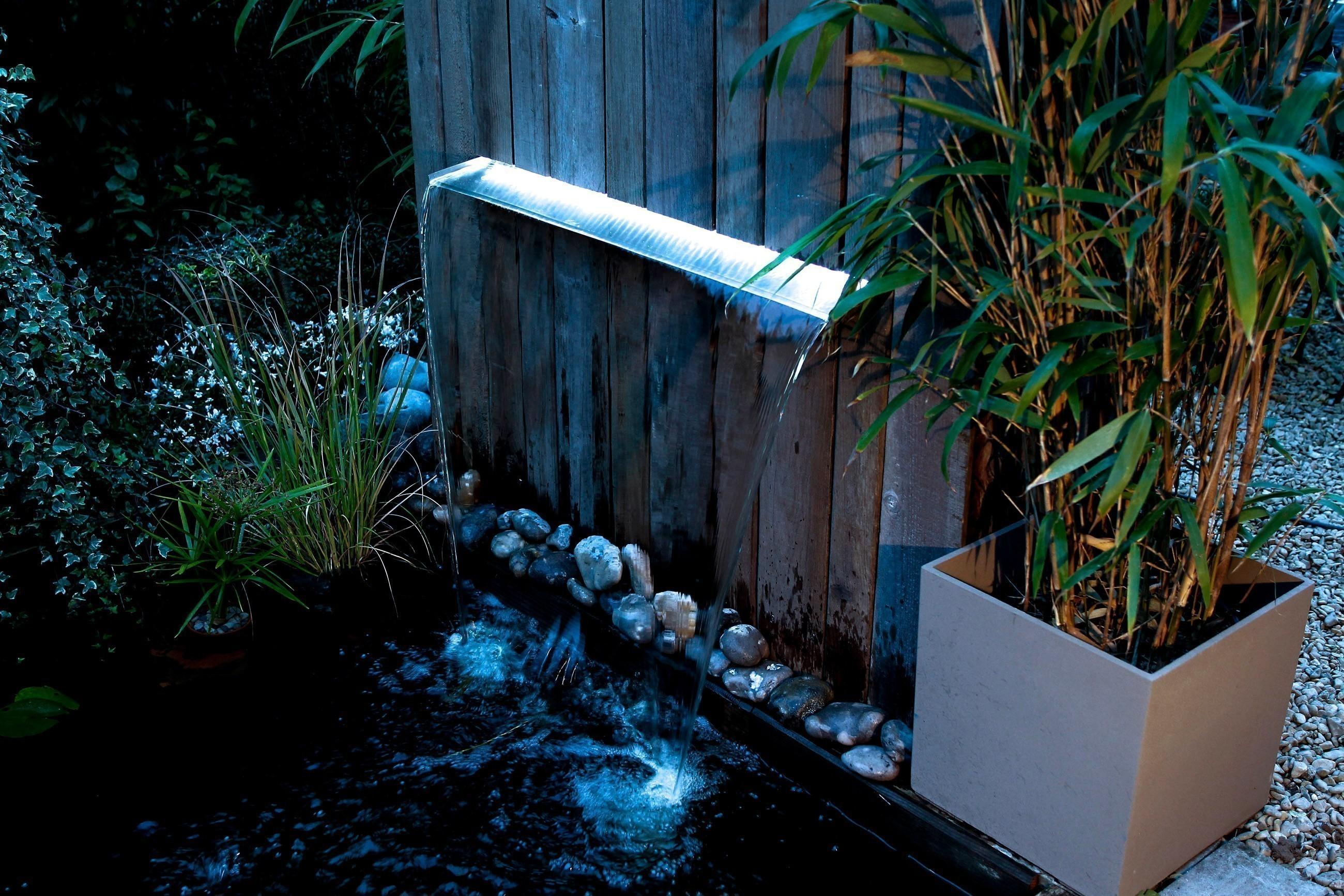 Ubbink Design Wasserfall Element Niagara LED Wall 90cm Edelstahl Bild 3