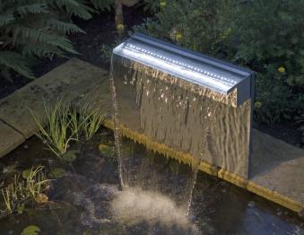 Ubbink Design Wasserfall Set Niagara LED 30cm Edelstahl Bild 2