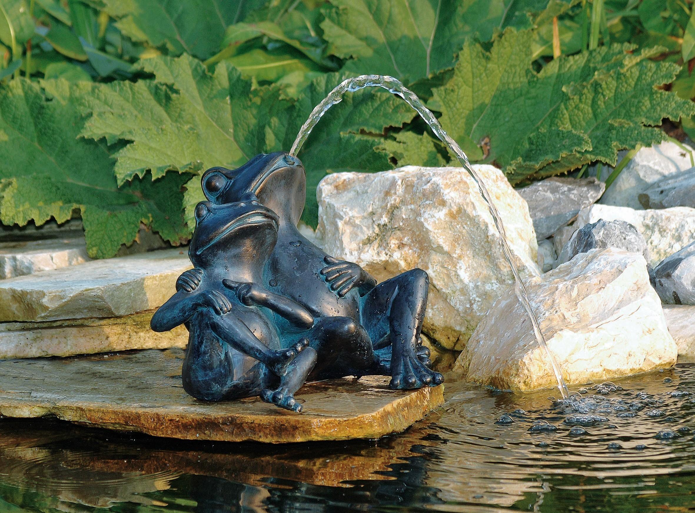 Ubbink Wasserspeier / Teichfigur 2 Frösche Polyresin 22cm Bild 2