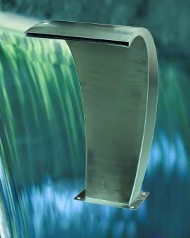 Wasserfall-Element GardenForma Bend Edelstahl 36x46x58,5cm Bild 3