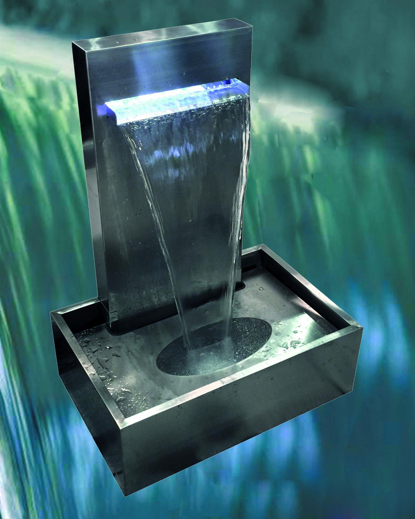 Wasserfall / Gartenbrunnen GardenForma Galton Edelstahl 40x20x80cm Bild 3