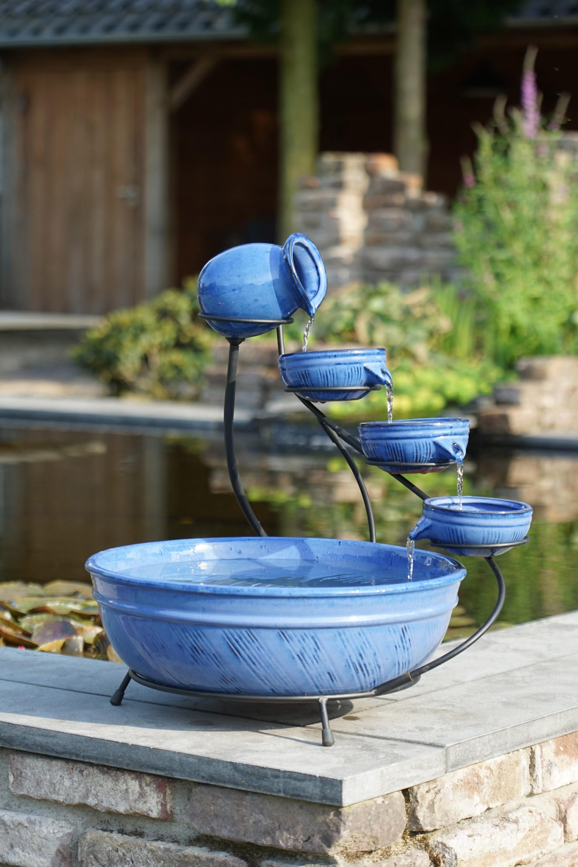 Wasserschalen / Wasserspiel Ubbink Aqua Arte Keramik Brunnen blau Bild 1