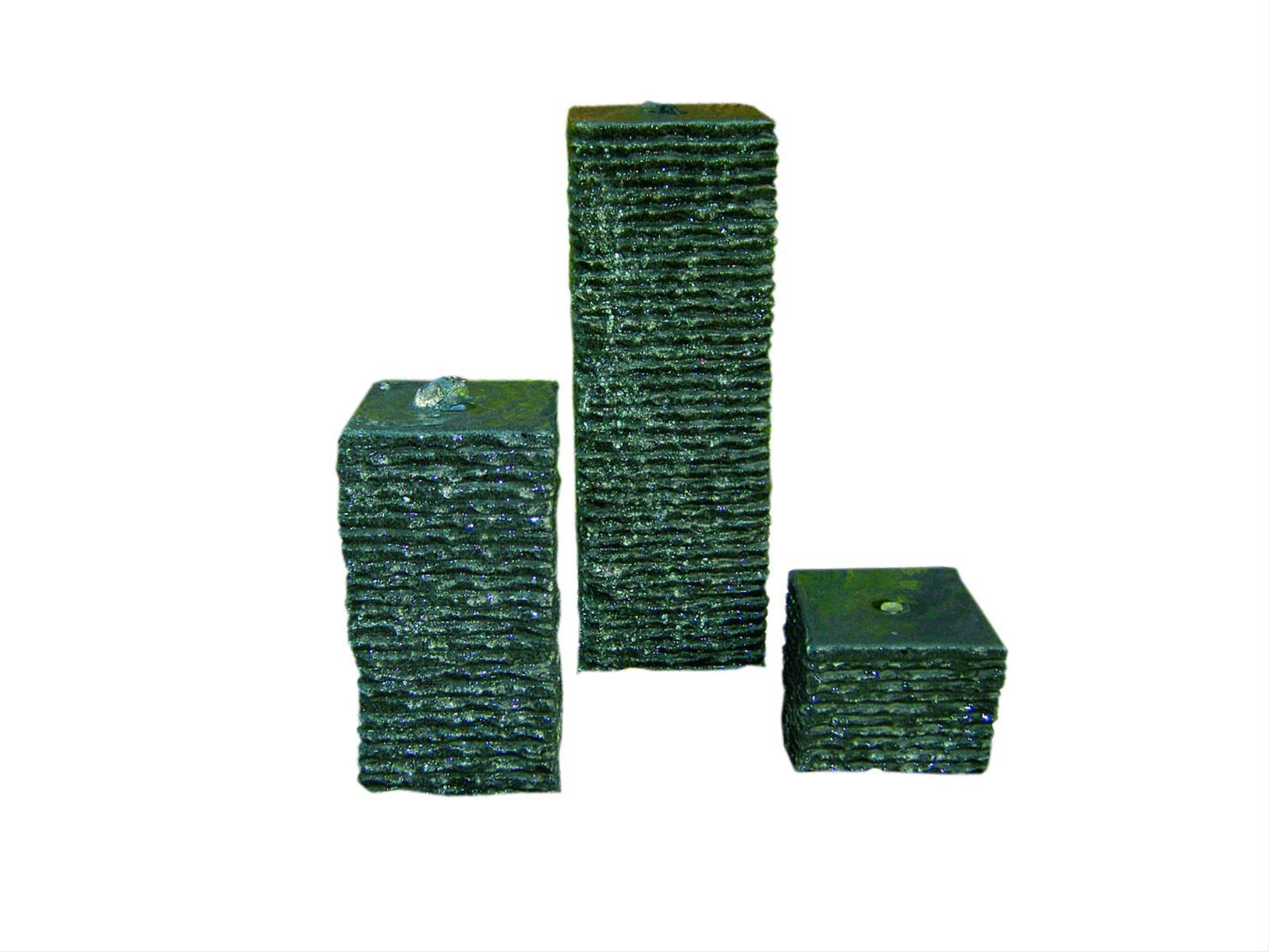 Wasserspiel GardenForma 3 Granitsäulen dunkelgrau gerade 15/30/50cm Bild 1
