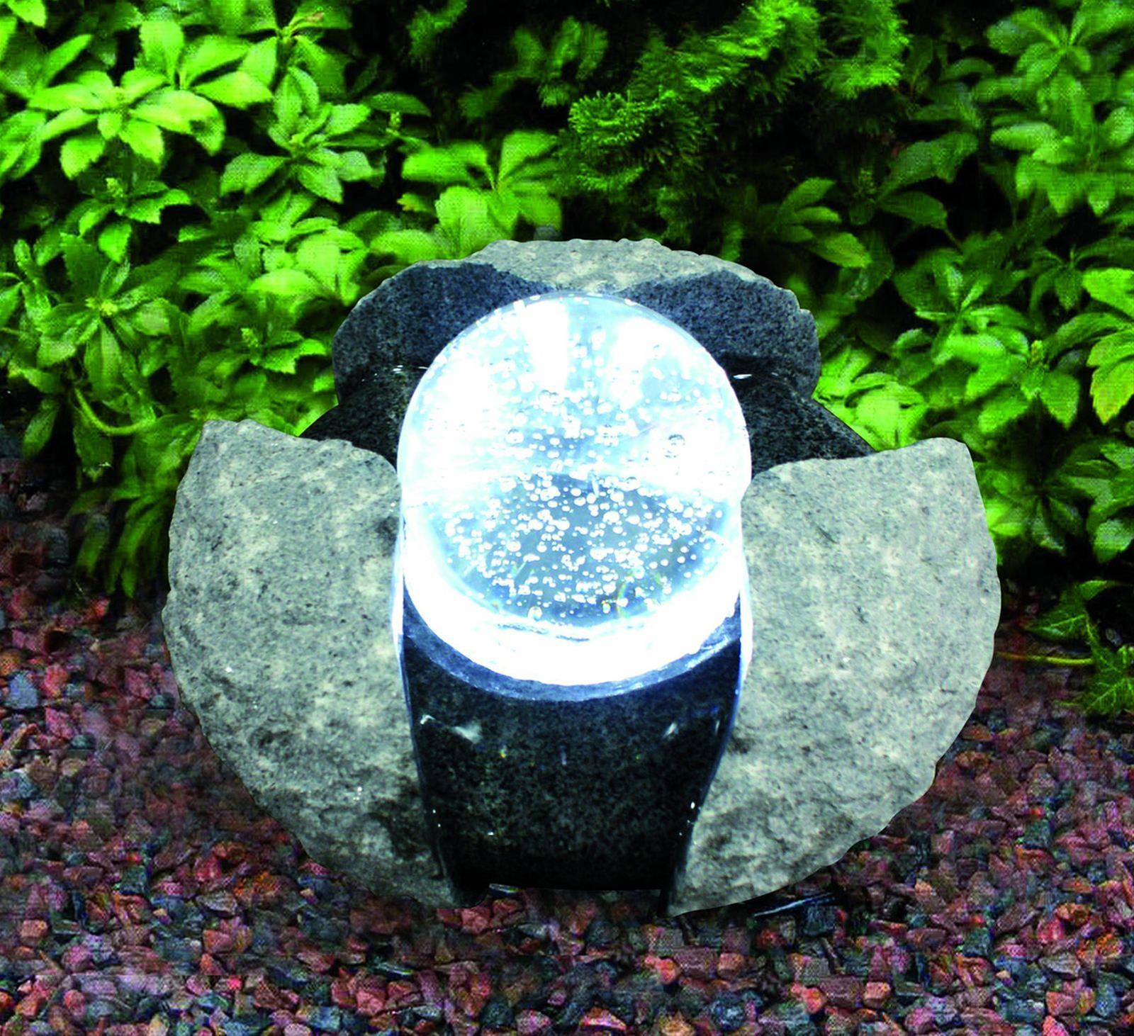 Wasserspiel GardenForma Brandur Granit mit drehender Glaskugel Bild 2