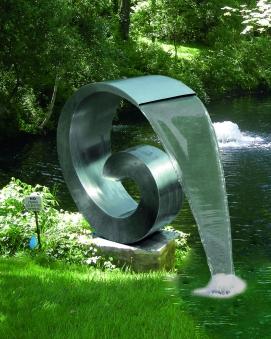 Wasserspiel / Gartenbrunnen GardenForma Edelstahl Loop Bild 2