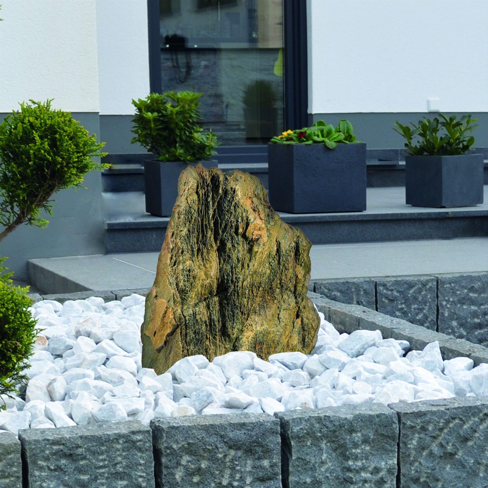 Wasserspiel Gartenbrunnen GardenForma Findling Ancient Stone Kalkstein Bild 2