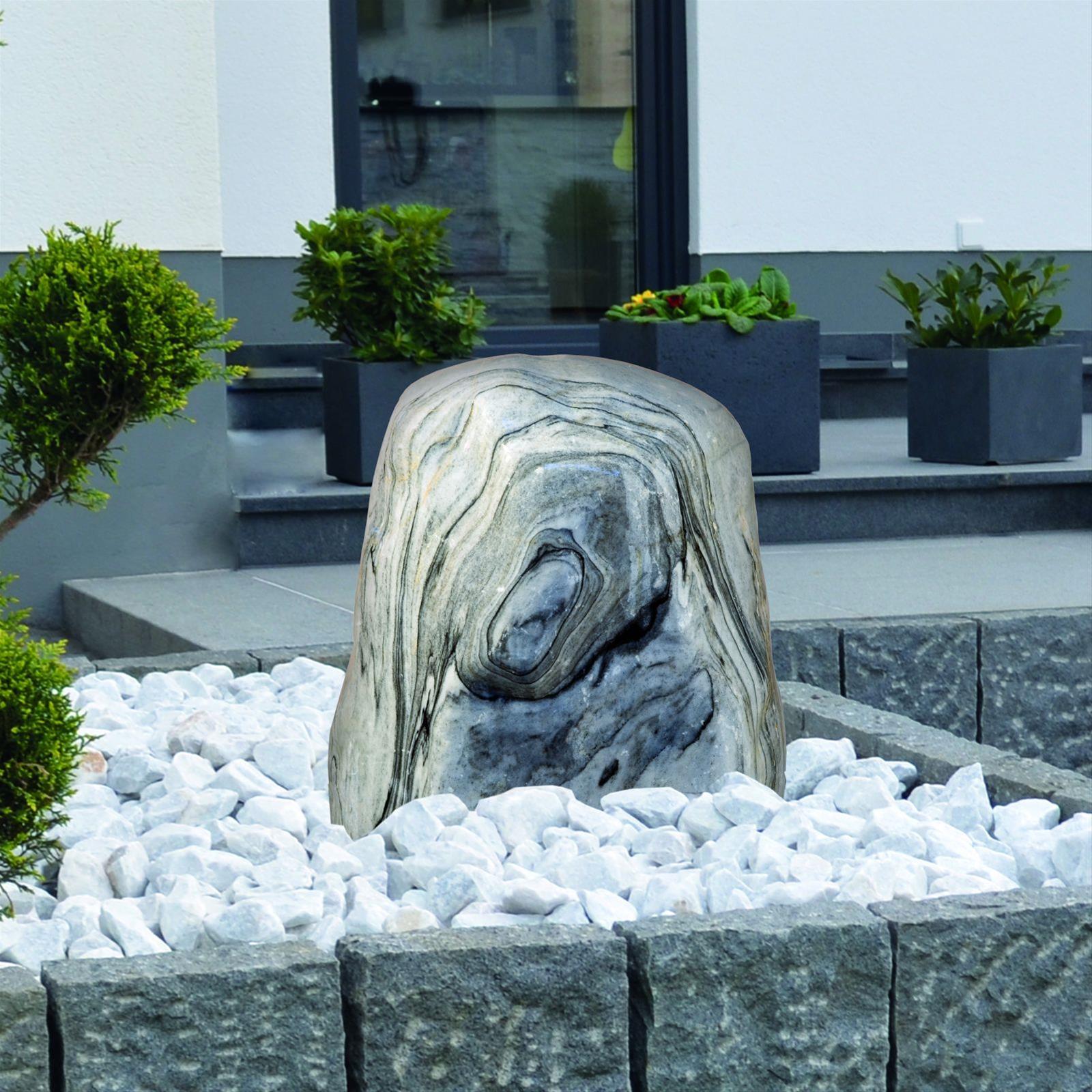 Wasserspiel / Gartenbrunnen GardenForma Findling Black Cloud Marmor Bild 2