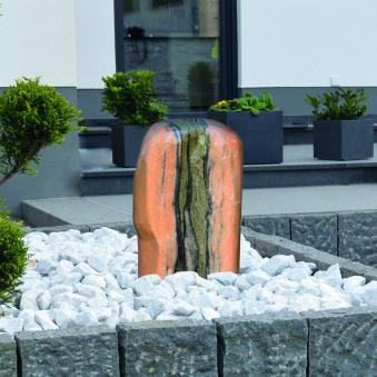 Wasserspiel / Gartenbrunnen GardenForma Findling Red Cloud Marmor Bild 2