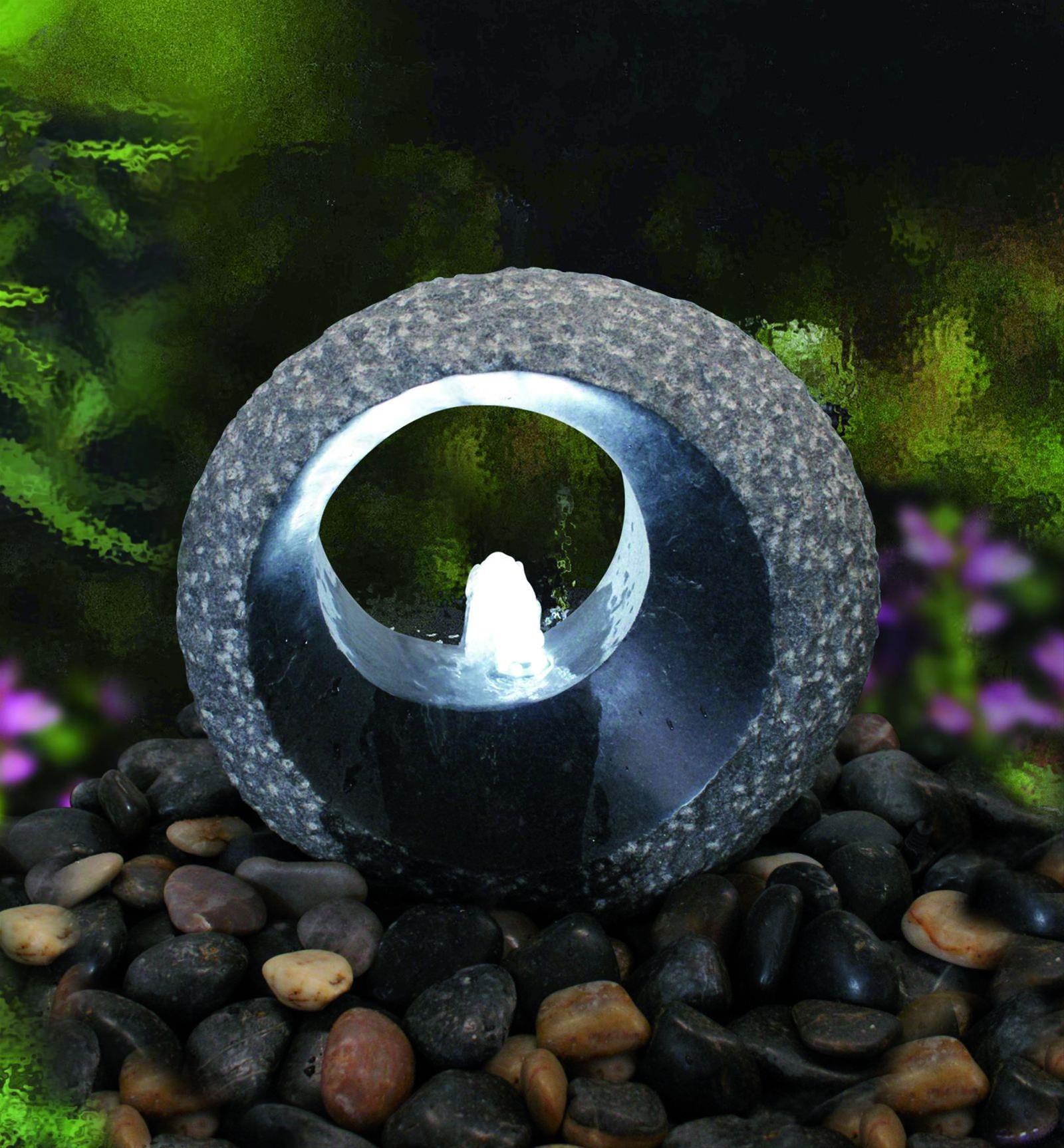 Wasserspiel / Gartenbrunnen GardenForma Grotta Granit dunkelgrau Bild 2
