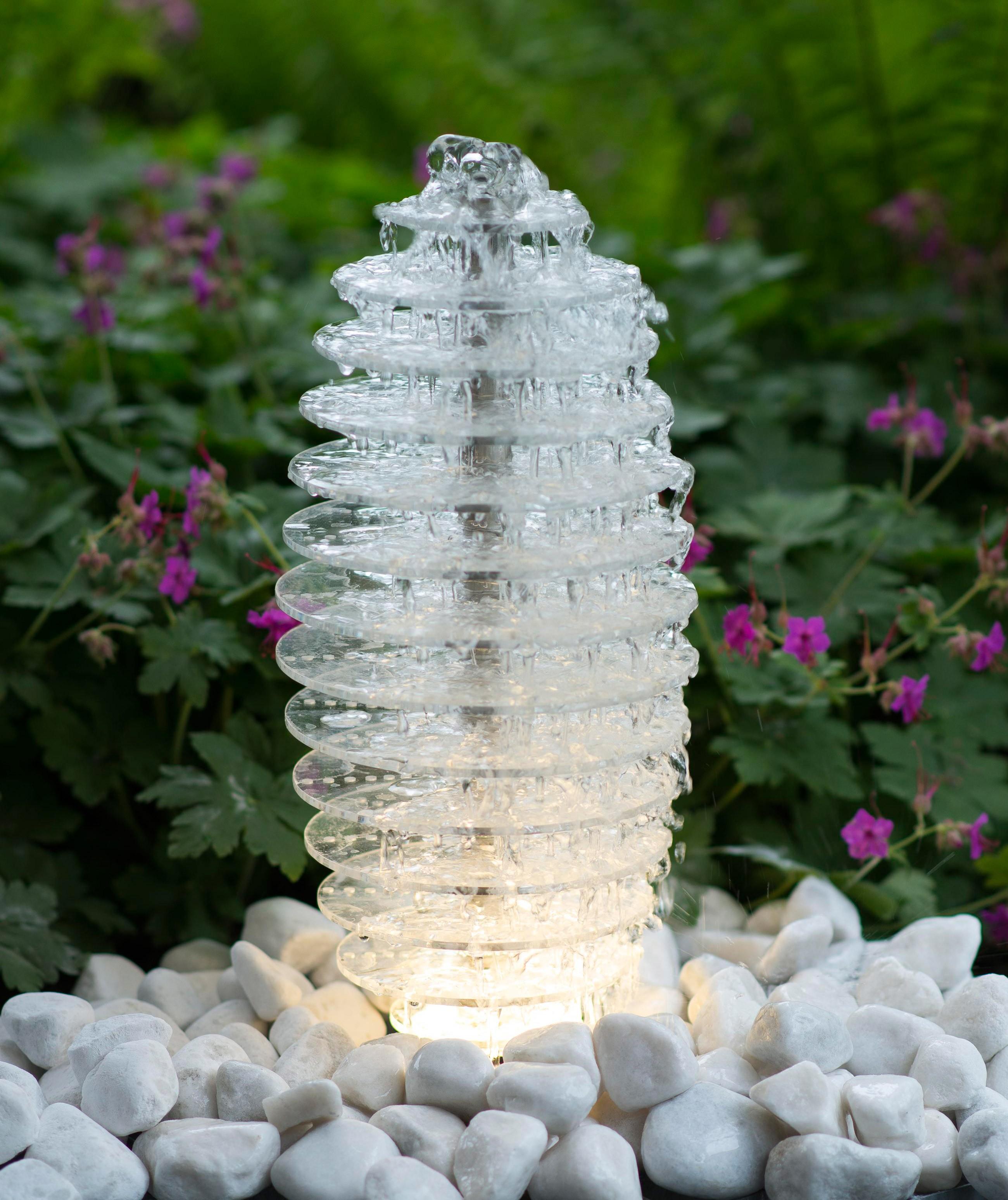 Wasserspiel / Gartenbrunnen Ubbink AcquaArte Mires Acryl / Edelstahl Bild 1