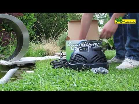 Wasserspiel / Wasserfall Ubbink Mamba S LED Edelstahl Video Screenshot 2019