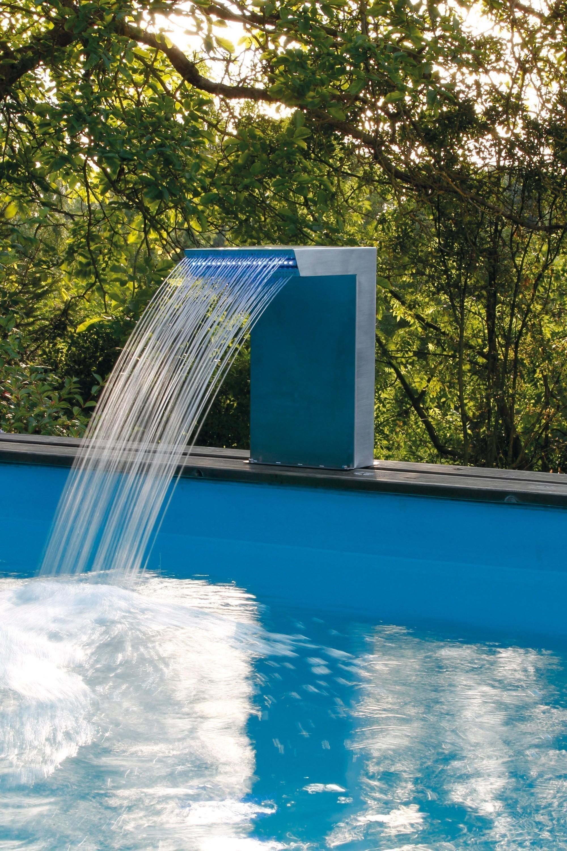 Wasserspiel / Wasserfall Ubbink Straight LED Edelstahl Bild 3
