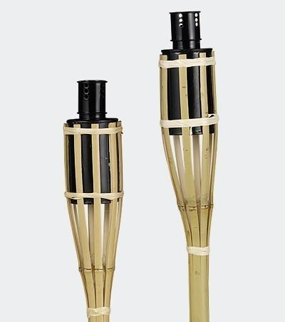 Bambus - Fackel / Gartenfackel 90cm 3 Stück Bild 1