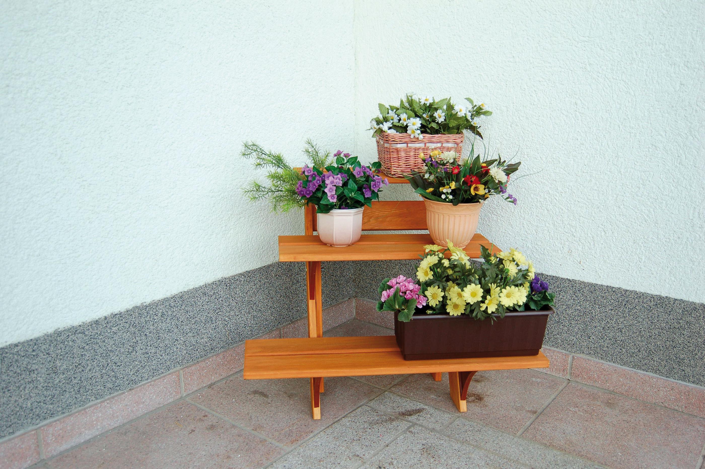 Blumentreppe Flora 3-stufig 55x56x60cm Bild 1