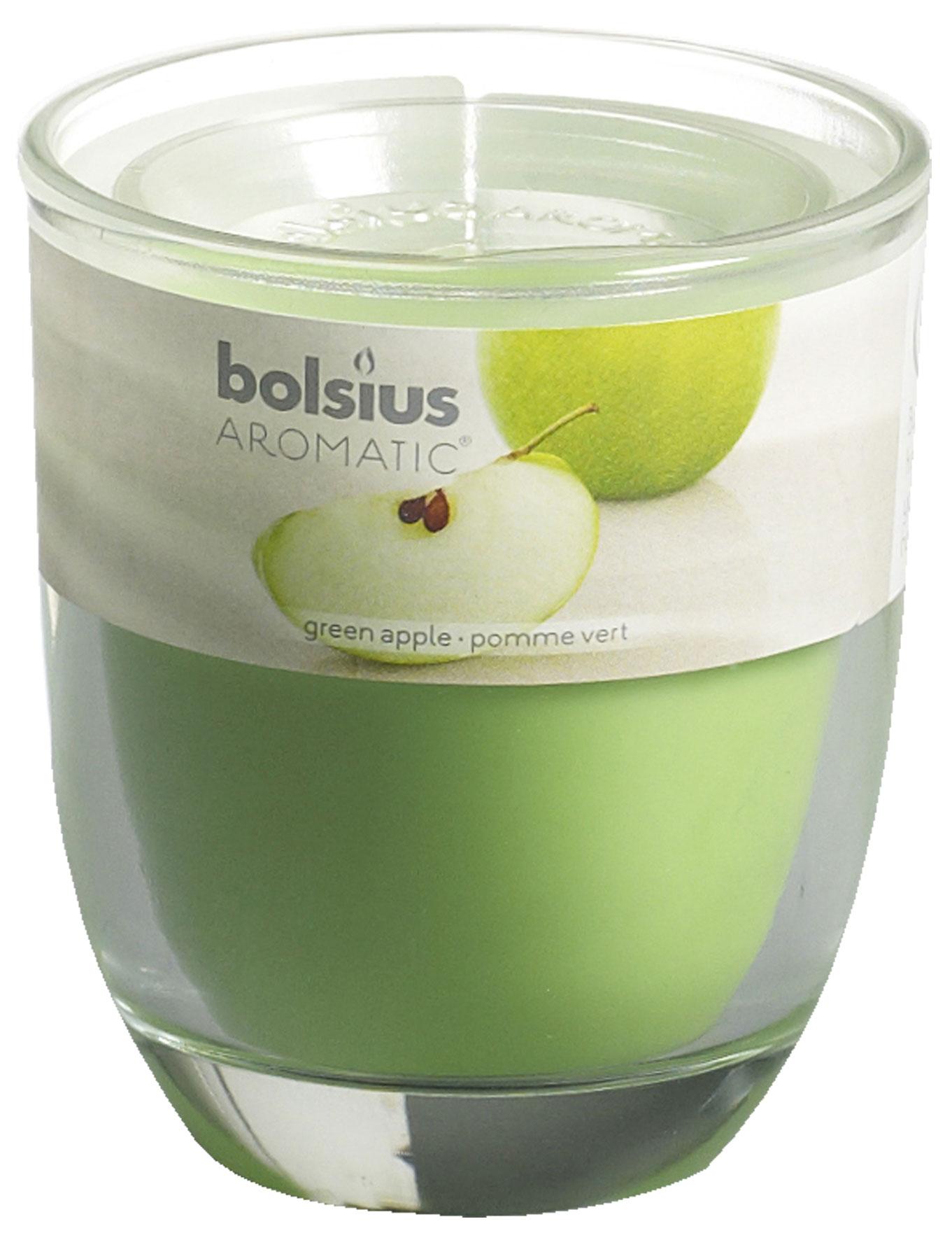 Bolsius Duftkerze Aromatic im Glas Grüner Apfel Bild 1