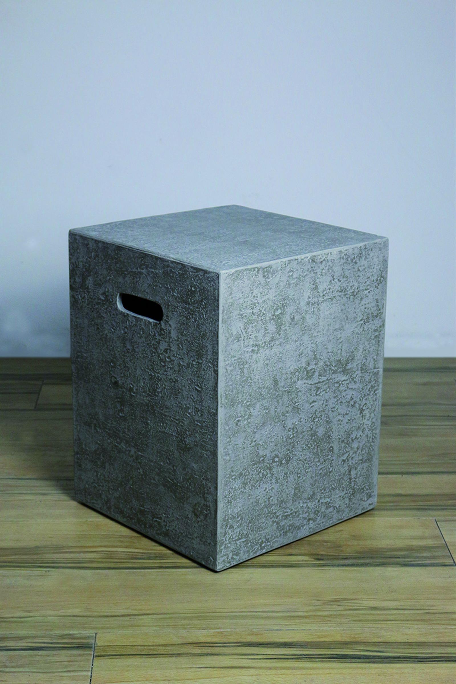 GardenForma Abdeckung für 5kg Gasflasche Faser-Beton Travertiner Bild 2