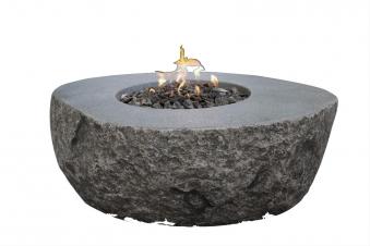 Gas Feuerstelle / Gartenfeuer GardenForma Vesuv Beton Basaltoptik
