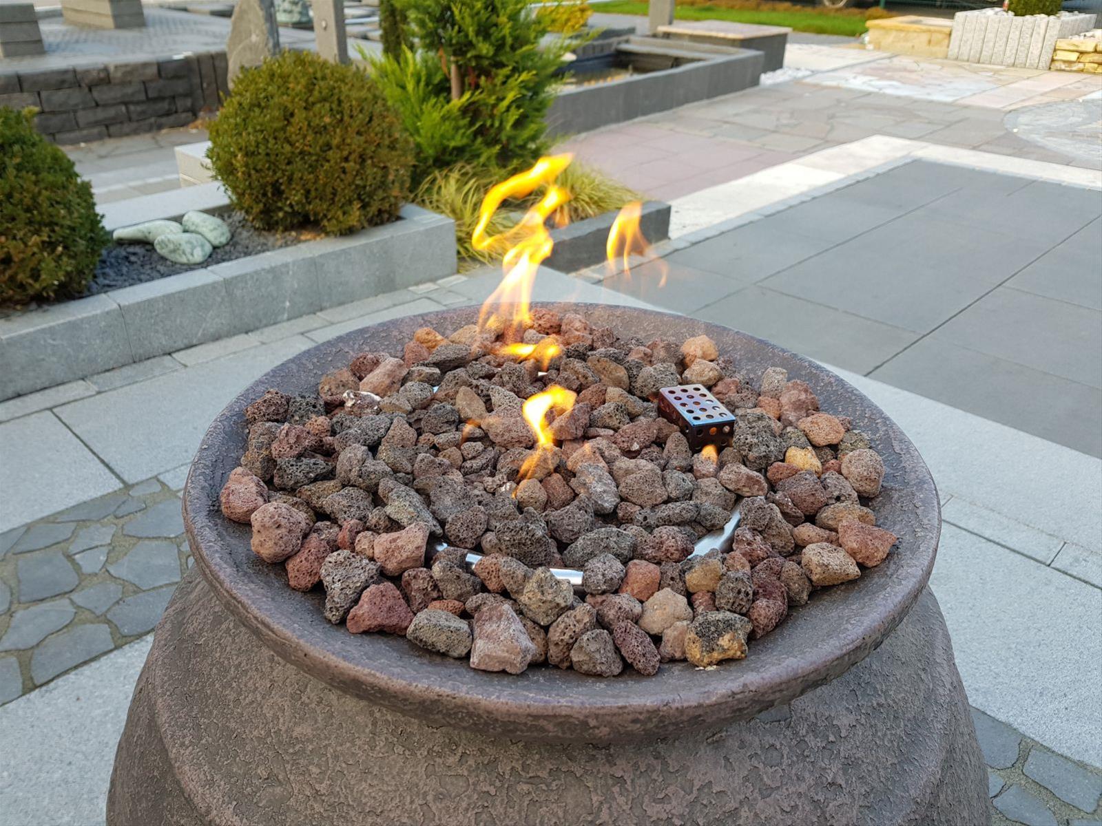 GardenForma Lavasteine rötlich für Gas-Feuerstellen 3kg Bild 2