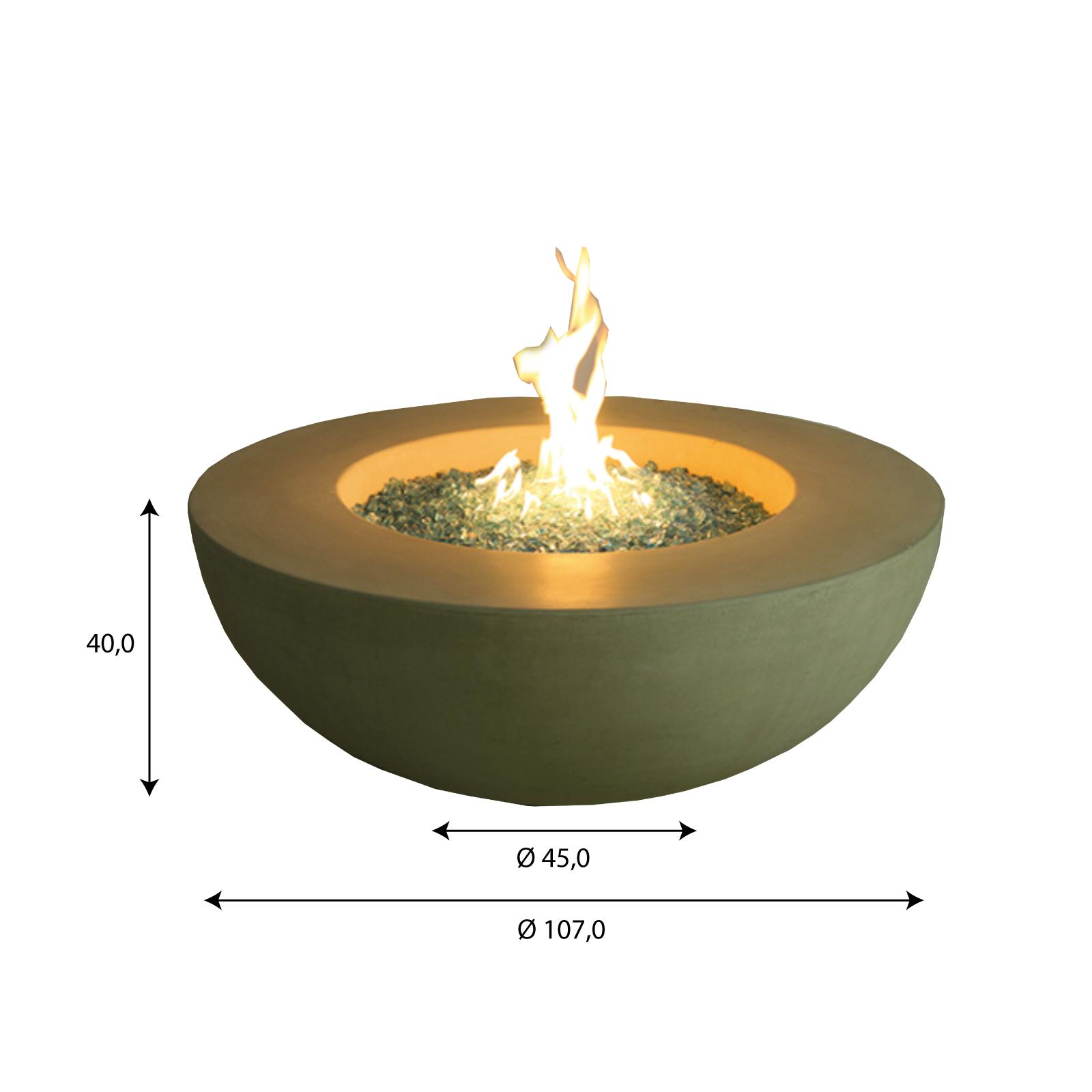 Gas Feuerstelle / Gartenfeuer GardenForma Ätna Betonoptik gelb Bild 5