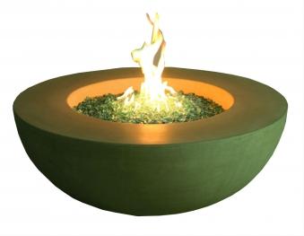 Gas Feuerstelle / Gartenfeuer GardenForma Ätna Betonoptik gelb Bild 1