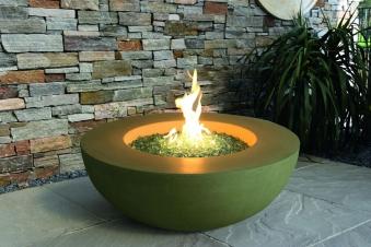 Gas Feuerstelle / Gartenfeuer GardenForma Ätna Betonoptik gelb Bild 2