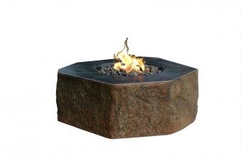 Gas Feuerstelle / Gartenfeuer GardenForma Dukono Beton Basaltoptik Bild 1
