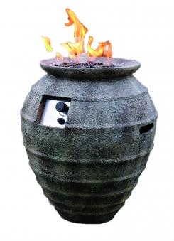 Gas Feuerstelle / Gartenfeuer GardenForma Katla Beton Keramik Antik Bild 1