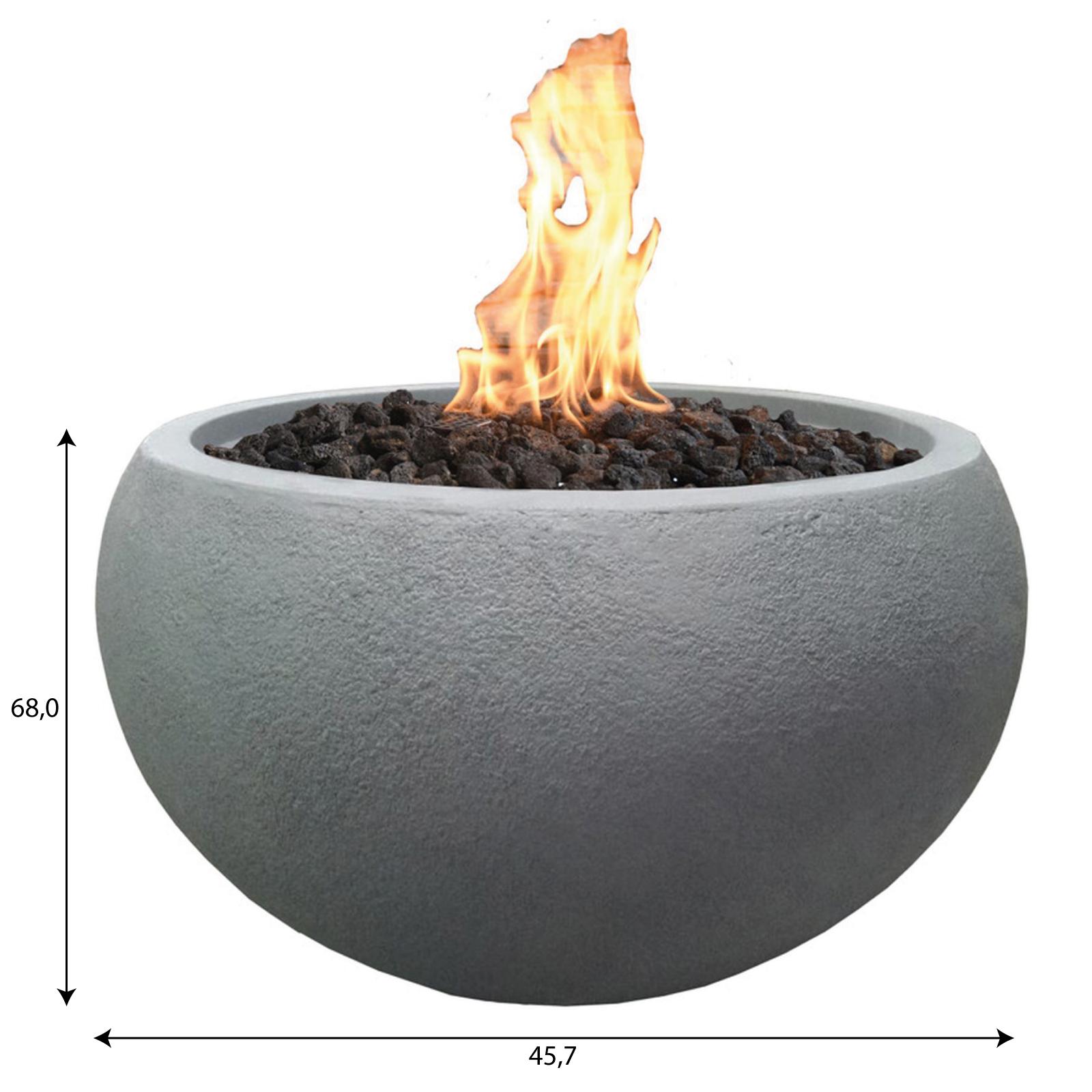 Gas Feuerstelle / Gartenfeuer GardenForma Marra Beton-Optik grau Bild 5