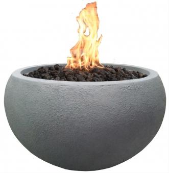 Gas Feuerstelle / Gartenfeuer GardenForma Marra Beton-Optik grau Bild 1