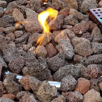Gas Feuerstelle / Gartenfeuer GardenForma Mayon Natursteinoptik dunkel Bild 3