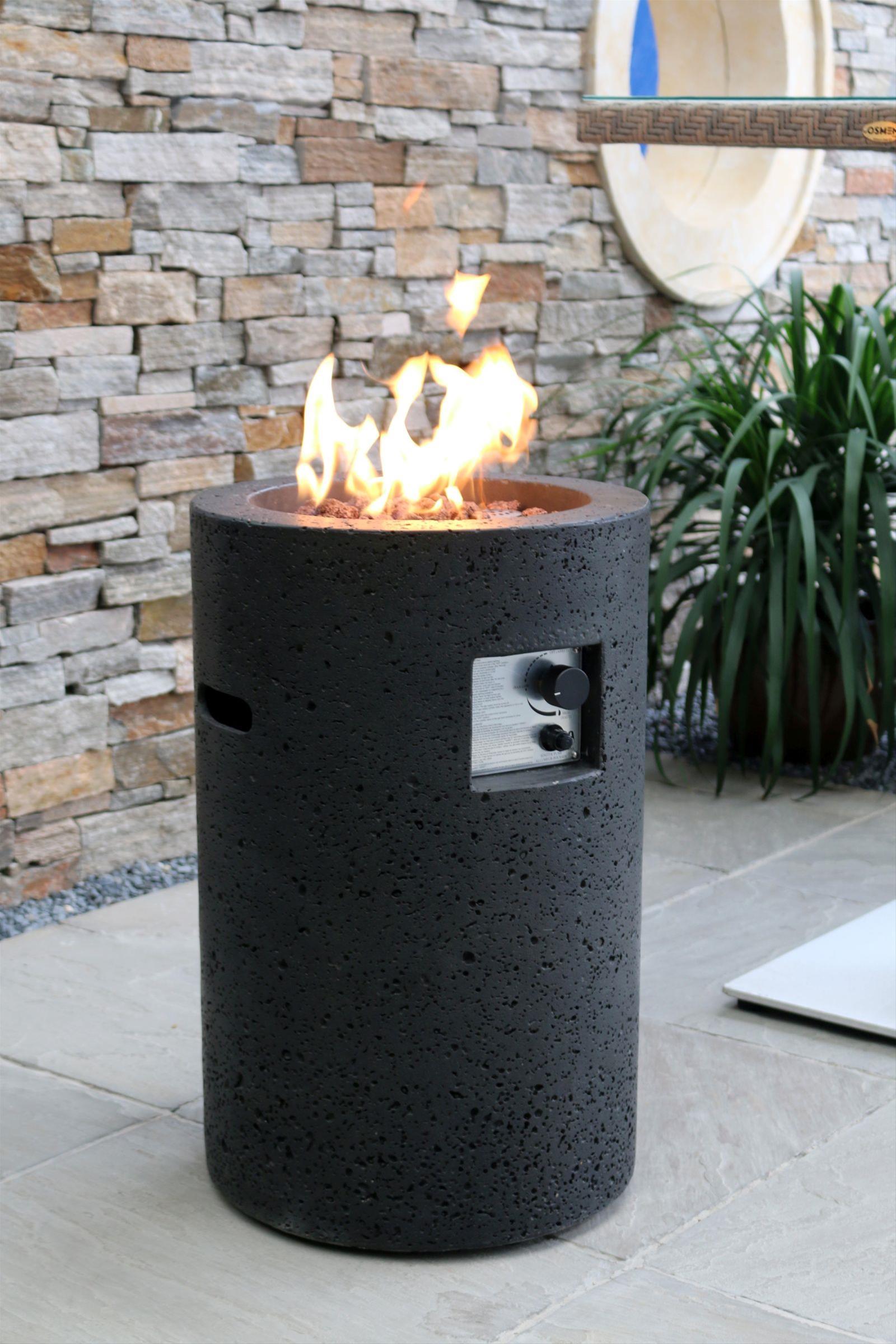 Gas Feuerstelle / Gartenfeuer GardenForma Merapi Beton Basaltoptik Bild 2