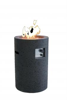 Gas Feuerstelle / Gartenfeuer GardenForma Merapi Beton Basaltoptik Bild 1