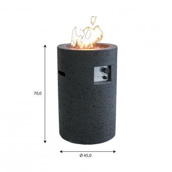 Gas Feuerstelle / Gartenfeuer GardenForma Merapi Beton Basaltoptik Bild 5