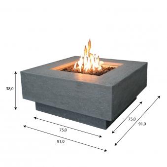 Gas Feuerstelle / Gartenfeuer GardenForma Raung Betonoptik grau Bild 5