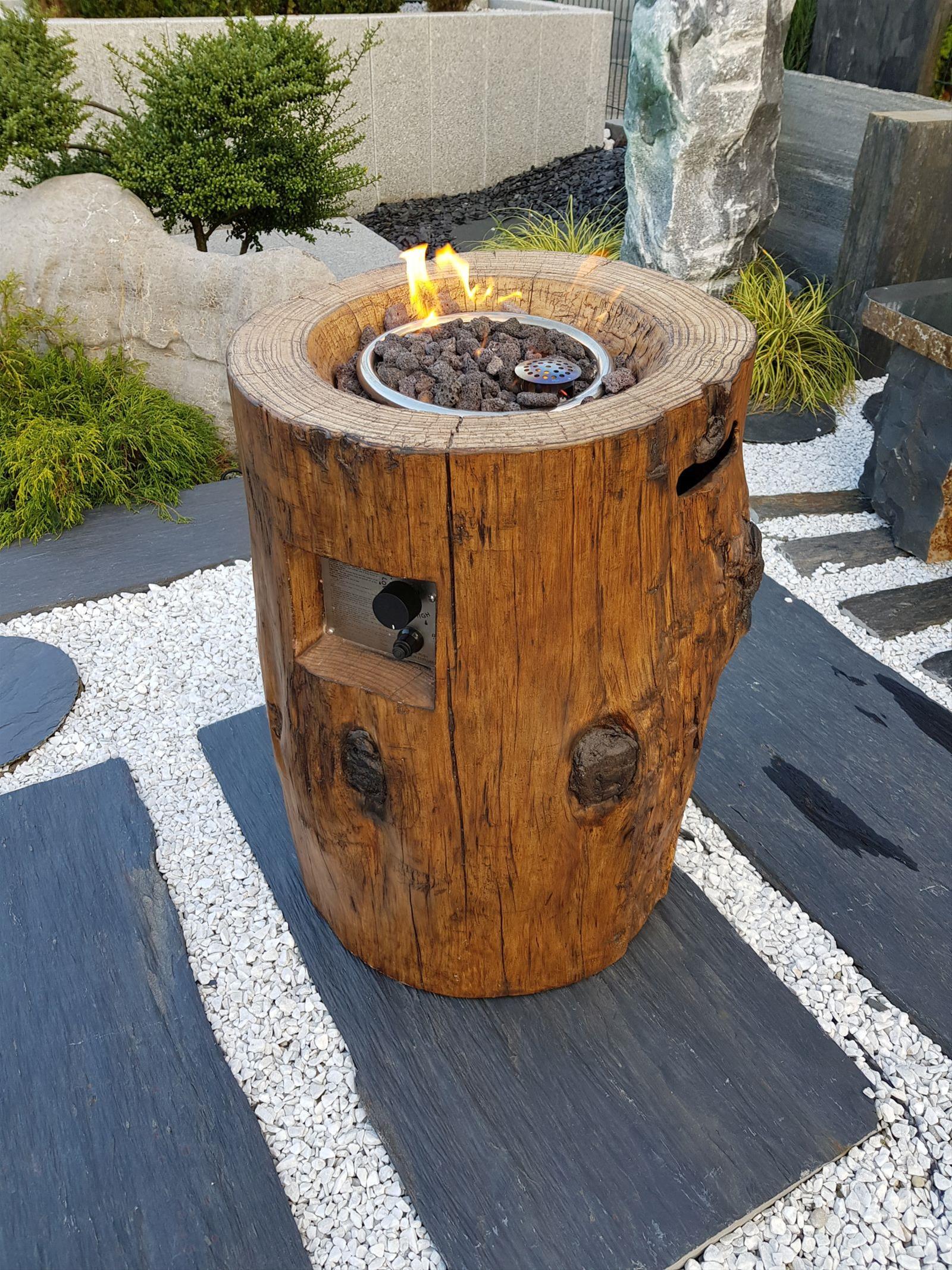 Gas Feuerstelle / Gartenfeuer GardenForma Semeru Eco Stone Bild 2