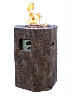 Gas Feuerstelle / Gartenfeuer GardenForma Tambora Beton Basaltoptik Bild 1