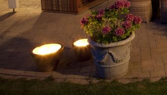 Teakholz Kerzen Candle Ø30cm Bild 1
