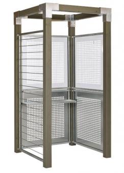 Dusche / Aussendusche Cubic mit Glas- / Stahlverkleidung Plus Bild 1